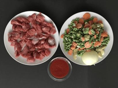 ingredientes guiso pavo