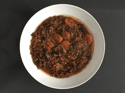 plato de lentejas