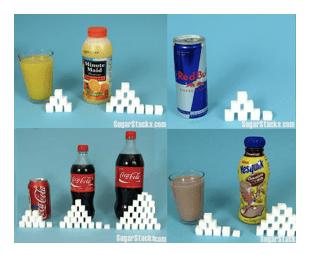 azúcar en refrescos