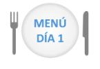 menú día 1