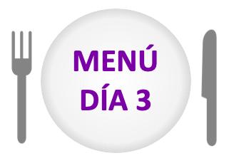 menú día 3